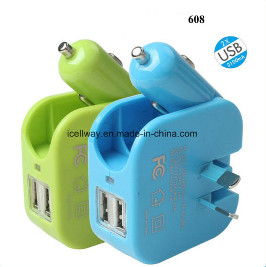 Multi Function Car Charger Wall Adapter USB Charger pictures & photos