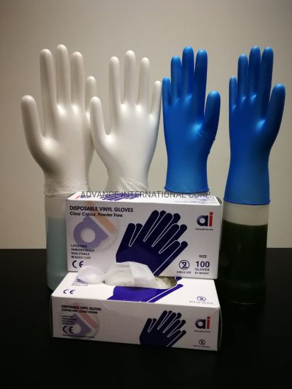 Medical Materials Disposable Examination Vinyl Gloves Powered Power Free
