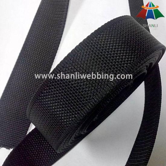 1.5 Inch Black Beaded Soft Nylon Webbing