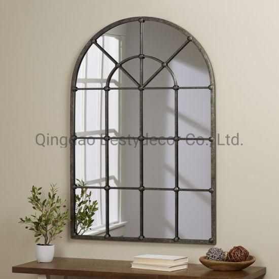 Arched Decorative Window Frame Mirror, Decorative Window Frame Mirrors