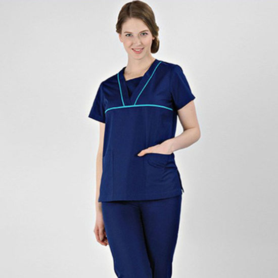 Women Medical Hospital Clinic Uniform Nurses Doctor Work Clothes Scrubs Set