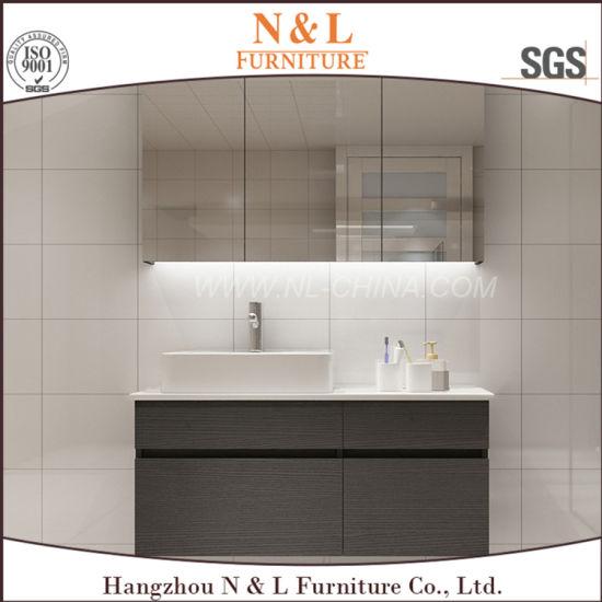 China Modern Floor Mounted Modern MFC Bathroom Vanity With Mirror - Bathroom vanities floor mounted