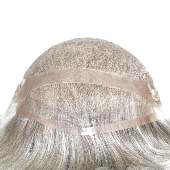 Human Hair Grey Hair Replacement for Older Generations - High Quality Long  Lasting Mono Base