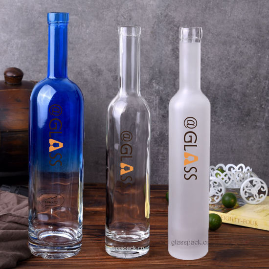 Flint/Frost/Color Sprayed Glass Bottles for Spirits, Beverage pictures & photos