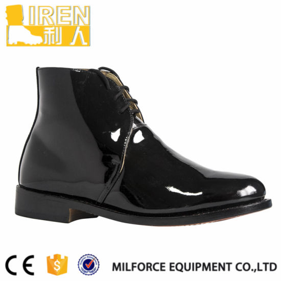 Black Good Wear Genuine Leather New Style Police Office Shoes