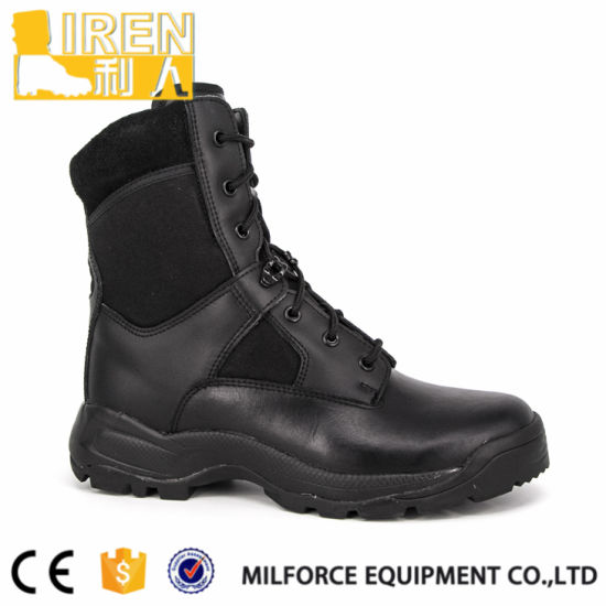 Breathable Cow Leather Men Tactical Army Boot pictures & photos