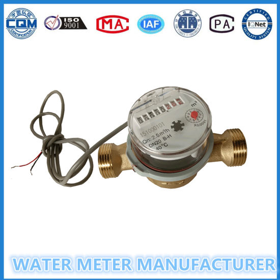 Single Jet Dry Dial Pulse Output Water Meter in 10L/Pulse pictures & photos