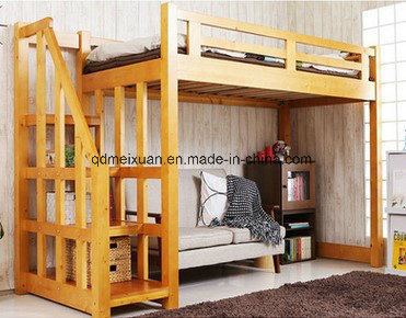 Double Lash Bed Children Bed Elevated Multifunctional Double Solid Wood Bed (M-X3803)