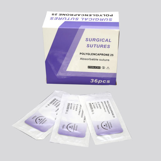 Medical Supply ISO /Ce Absorbable and Non Absorbable Surgical Suture with /Without Needle pictures & photos