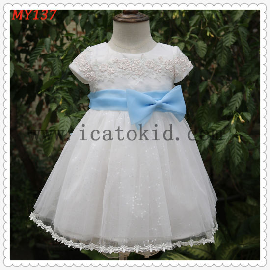 China Casual Baby Clothes Fluffy Children Dress Prong Snap