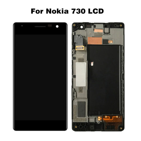 for Nokia Lumia 730 735 LCD Display for Microsoft 730 735 Screen Display N730 Touch Screen Digitizer Assembly with Frame Ypf27-132 pictures & photos