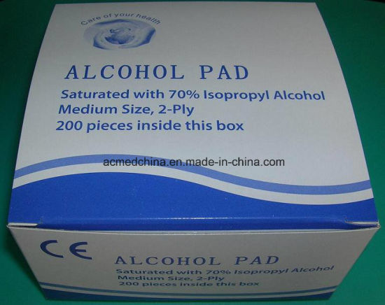 Ce/ISO Approved Medical Non-Woven Sterile Alcohol Swab pictures & photos