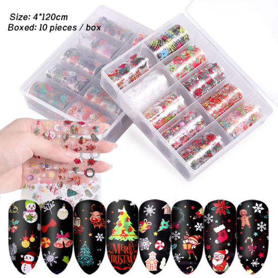 Christmas Transfer Foil Set Nail Art Transfer Foils Set pictures & photos