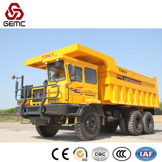 Heavy Duty Mining Truck with 60t Payload for Transporting Quarry