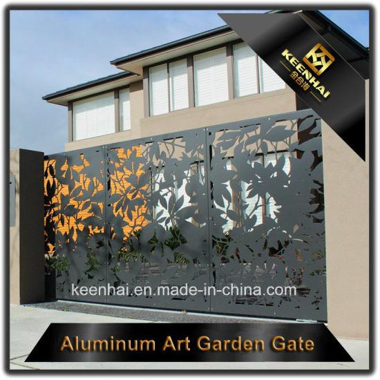 China Laser Cut Decorative Aluminum Driveway Gate China