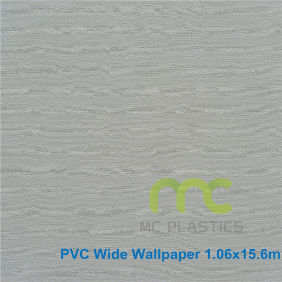 Pure Color Design Wallpaper PVC Wall Paper Fire Proof Water