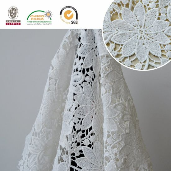 Calliopsis Pattern Lace Fabric for African&Swiss Wedding and Daily Dress E20034 pictures & photos