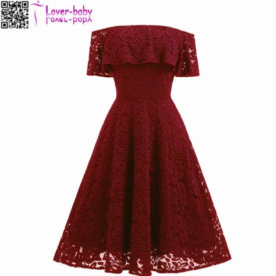 704558e5aaa 2017 New Designer Good Quality Lace Plus Size Wholesale Fat Women Dress  L36175-3 pictures