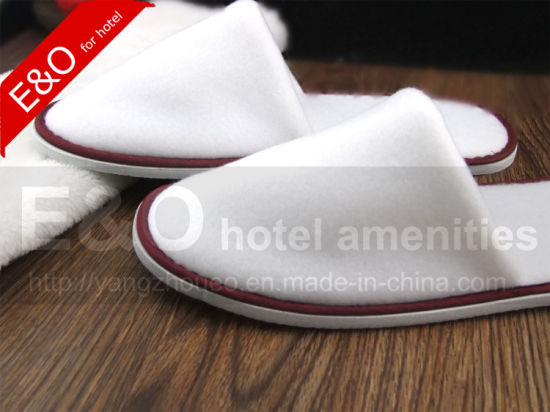 Single-Sided Flocking Fabric Hotel Slippers