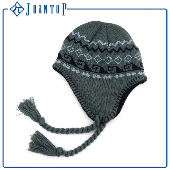 China Wholesale Custom Knit Acrylic Beanie Earflap Hat - China ... 5241eaed80c