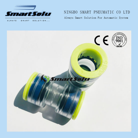 Transparent Plastic 20/15mm Optical Fiber Connector Microduct Straight Coupling