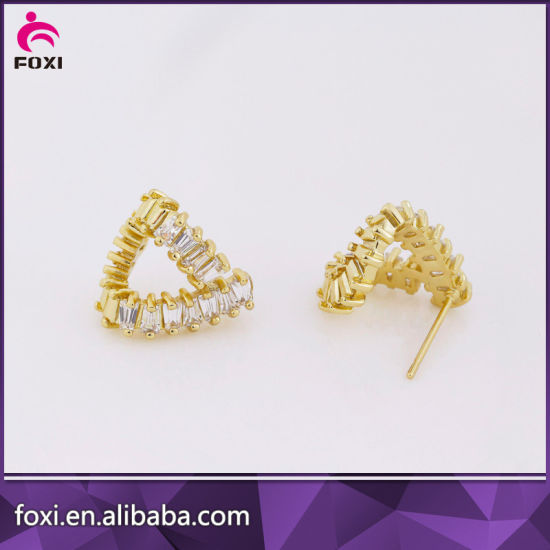 Newest Design Fashion Jewelry Copper Cubic Zirconia Earring for Women pictures & photos