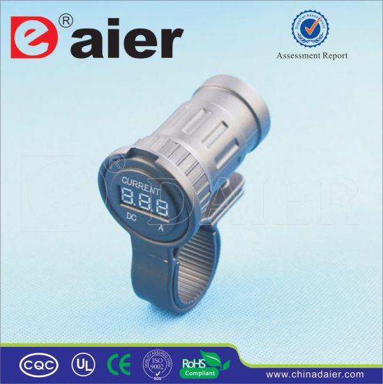 Daier Marine/Car Charging Power Digital 12V Ammeter Display Socket (DS7H40)