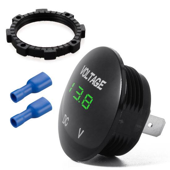 12-24V Car Motorcycle Voltmeter Blue LED Display Digital Voltage Meter