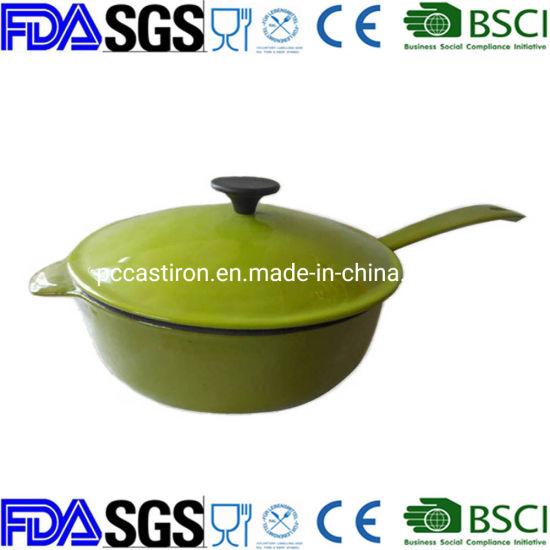 24cm Healthy High Capacity Cast Iron Enamel Cooker