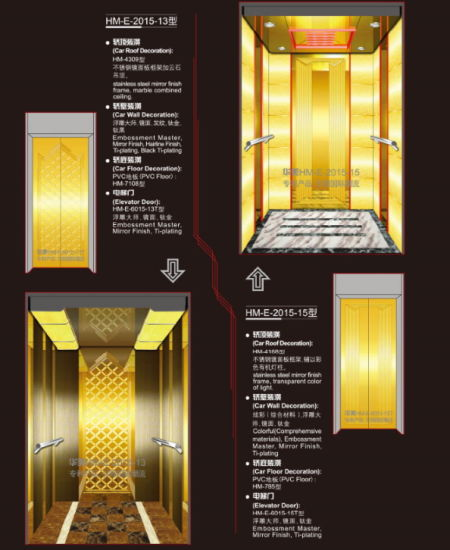 Passenger Elevator with Luxury Decoration for Hotel or Office pictures & photos