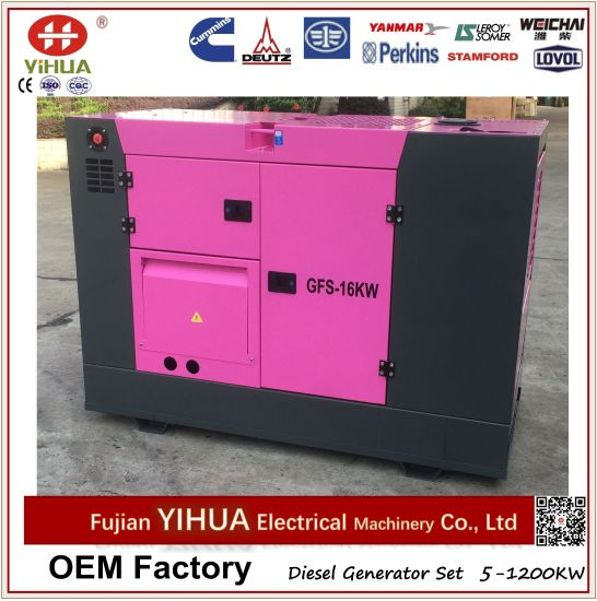 10-30kVA Denyo Type Super Ultra Silent Diesel Generator Set with Cummins