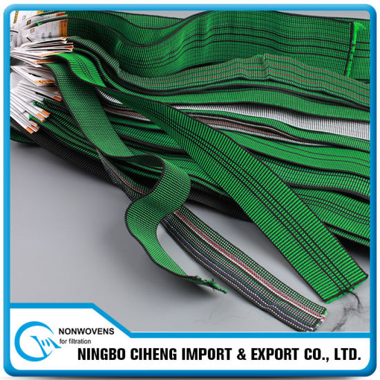 Jacquard Webbing Textile Band Flat Rubber Elastic Tape for Sofa