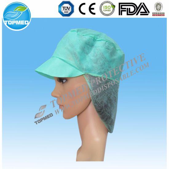 Wholesale Disposable Nonwoven Work Cap for Woman Snood Cap