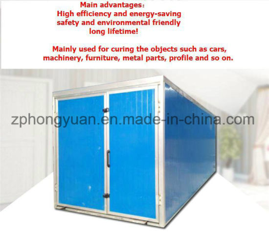 Rockwool Sandwich Panel Powder Curing Oven with Gas Burner