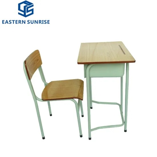2019 Wholesale School Furniture Single Student Desk and Chair
