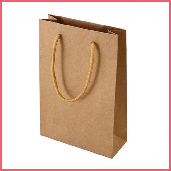 China Printed Paper Cheap Customized Brown Kraft Paper Bag Wholesale Brown Kraft Bags Manufacturer