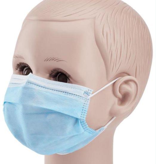 Children Kids Non Woven Earloop 3 Ply Civil Face Mask/Mascarilla/ Mascherina/Mascara Melt Blown Pfe 95% Above