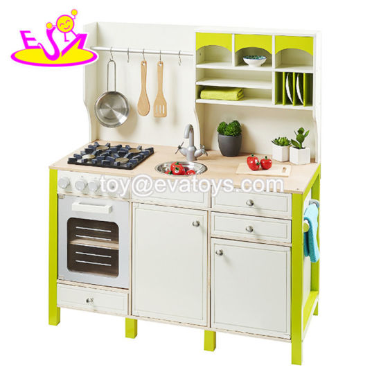 New Design Educational Toys Wooden Children Role Play Kitchen With Accessories W10c280 Pictures Photos