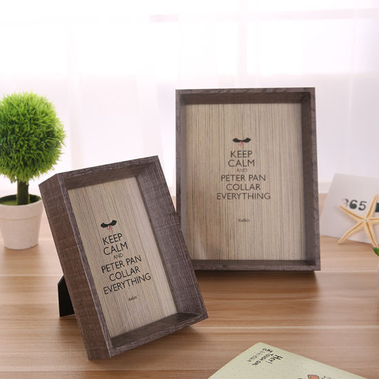 Natural 7-Inch Picture Frame Photo Wall Wood Frame Home Craft pictures & photos