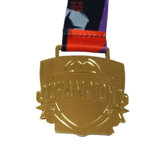 Design Football Sport Gold Award 3D Zinc Alloy Metal Medals