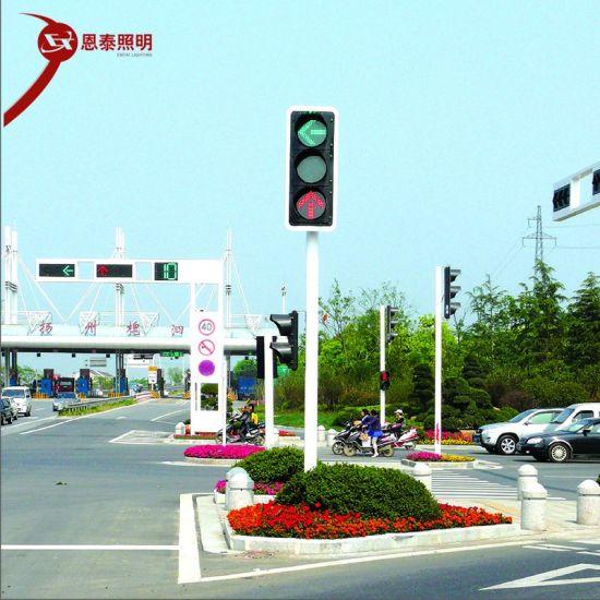 Pedestrian Flashing Solar Sign Light Traffic Police Hand Signal Light