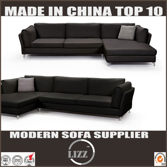 Home Furniture Italian Style Modern Living Room Leather Feather Sofa pictures & photos