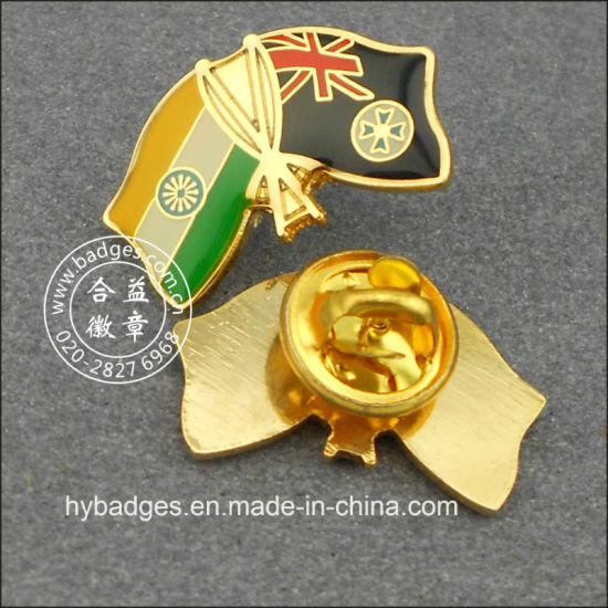 Thailand and Chinese Flag Badge, Souvenir Lapel Pin (GZHY-LP-003) pictures & photos