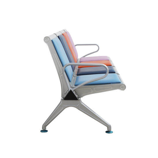 China Four Seater Metal Frame Reception Room Waiting Chairs For Airport Hospital Office Station Bank Medical Office China Waiting Chair Waiting Room Chair