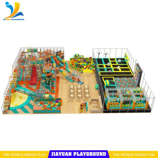 Trampoline Park Indoor Equipment, Extreme Trampoline with Soft Play, Indoor Playground Supplier