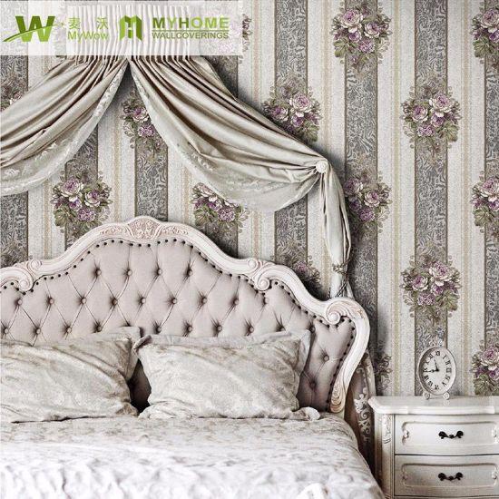 Floral Damask Design Wholesale Wallpaper for Home Decor