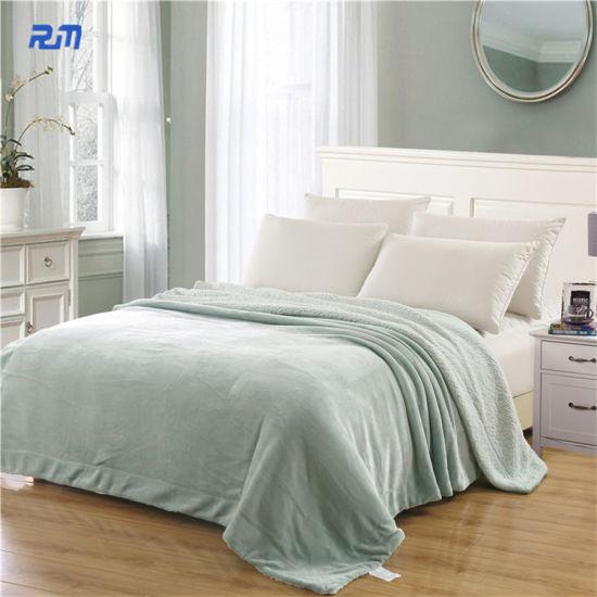Soft Fashion Blanket for Bed/Sofa Polor Fleece Fabric Blanket