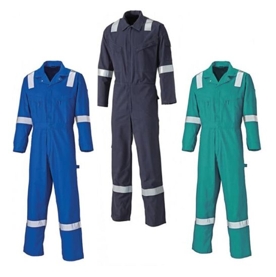 100% Cotton Safety Flame Fire Retardant Safety Workwear Clothes Overall Suit, Winter Offshore Fireproof Fr Working Ripstop Coverall for Oil