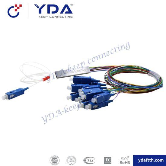 Sc Upc FTTH 1X16 Micro Steel Tube Fiber Optic Coupler Splitter