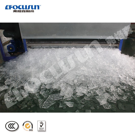 Good Material Industrial 8ton Plate Ice Machine to Cool Fish pictures & photos
